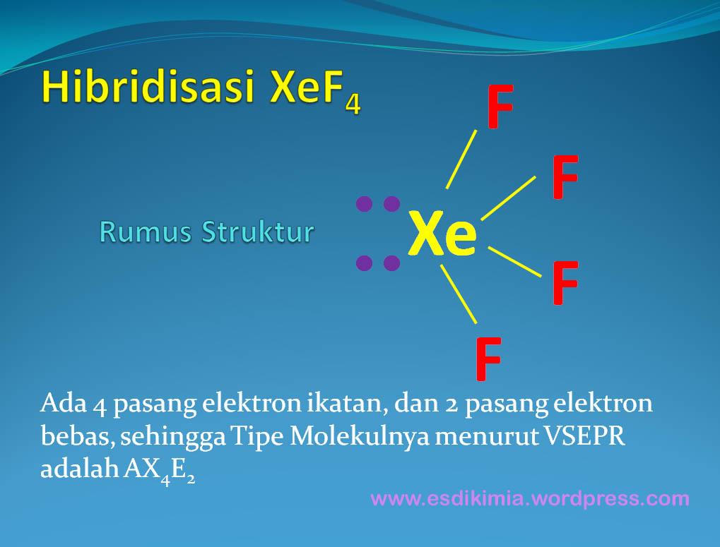 Cara Menjelaskan Hibridisasi Dan Bentuk Molekul Xef4 Komunitas Kimia Sma